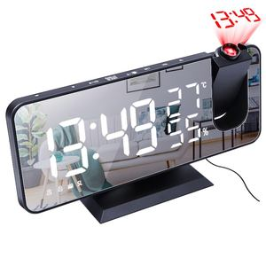 Customized Digital Table Led Light Projection Alarm Clock