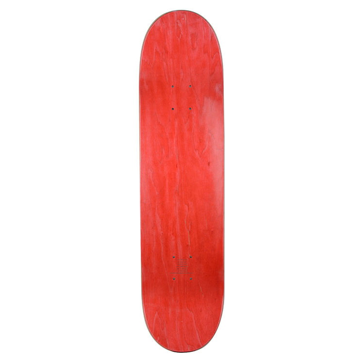 China Factory Directly Sell Professional Level Laser Etching logo 8 inch Blank Stained Red Skate Board Deck