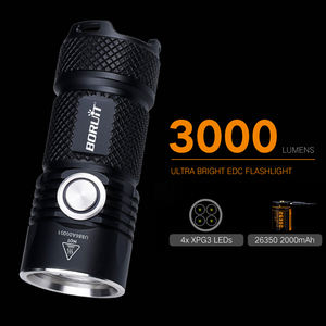 Boruit Super brillante USB recargable 40W XPG LED linterna