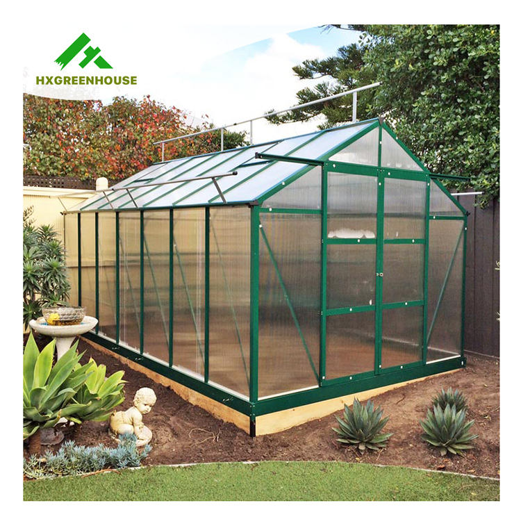Agriculture green house metal shade house single span 4 season poly greenhouses smart plant greenhouse for tomato