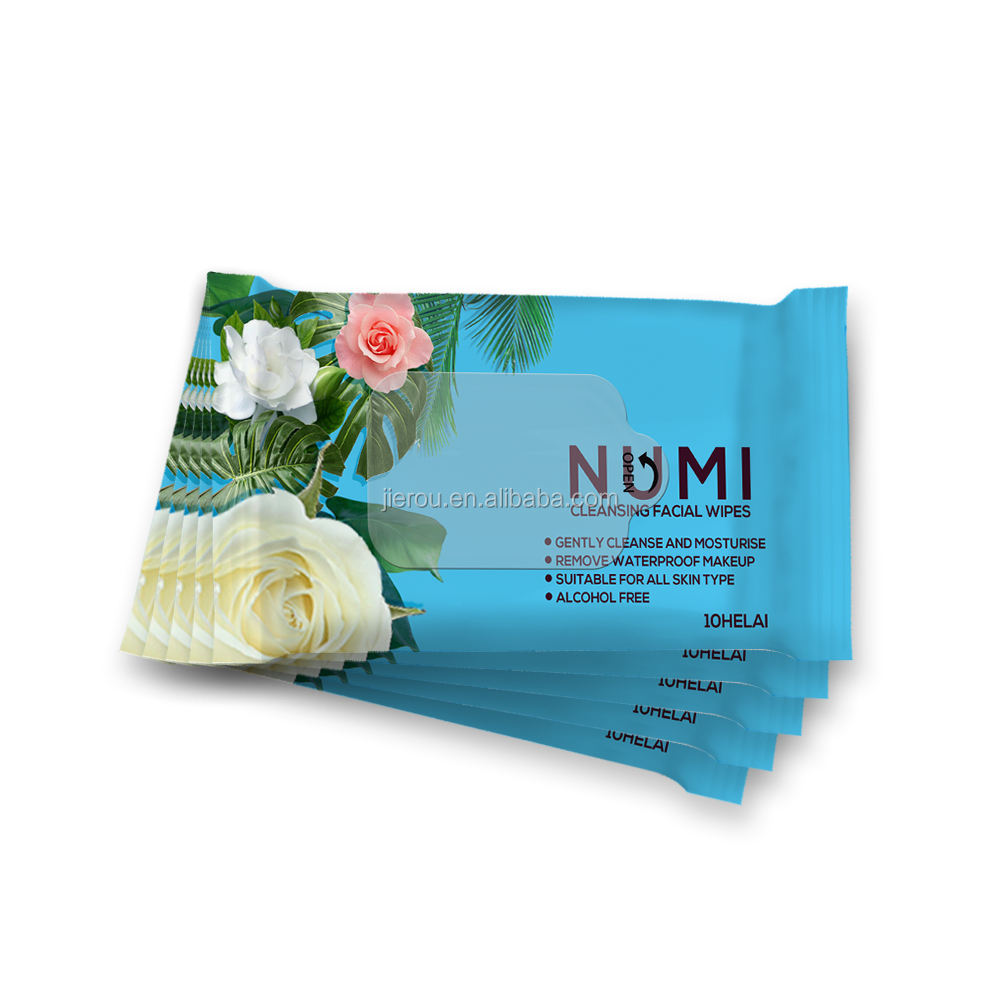 Eco-friendly Natural Portable Resealable Wipes 99% Pure Water Organic Wet Wipes