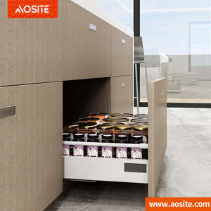 UP01AOSITE Furniture double wall drawer slides tandem metal box kitchen soft closing drawer slides