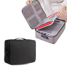 Trending travel file passport document organizer storage case carry bag document holder with lock