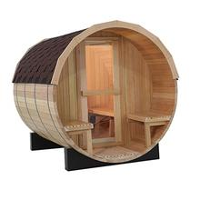Dry Steam Function and Computer Control Panel Feature Barrel Sauna