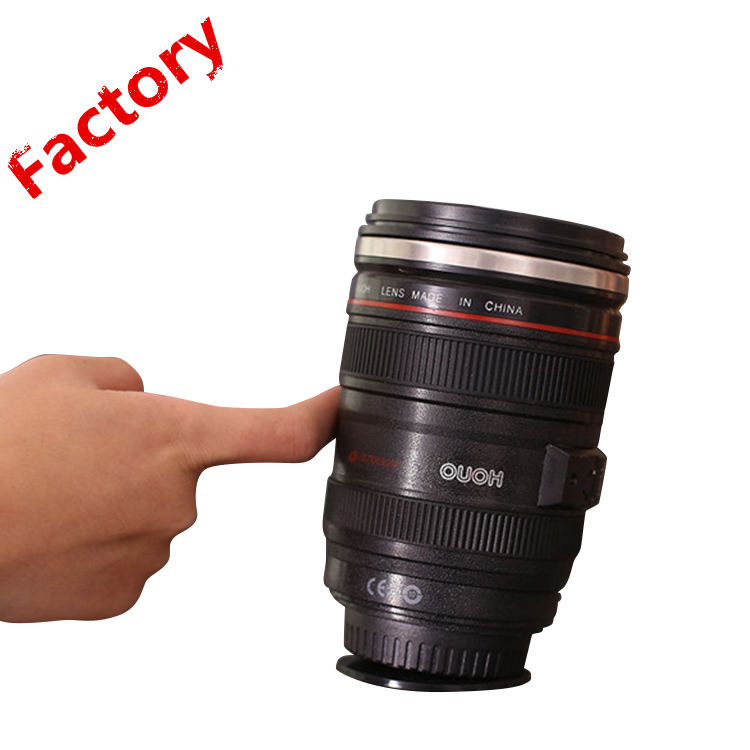 2019 New products 12oz Coffee Camera Lens Mighty Suction Mug