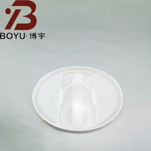 PP/HDPE/LDPE Mixed Congee and others Plastic Cup Can Lid with Spoon