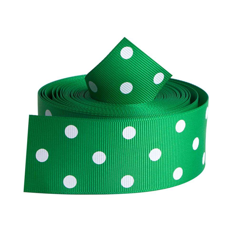 Wholesale polyester dots grosgrain ribbon print for decoration