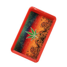 JL-018Z Wholesale Personalized Anime Designs Plastic Smoking Customize Tobacco Weed Led Rolling Tray Vendor