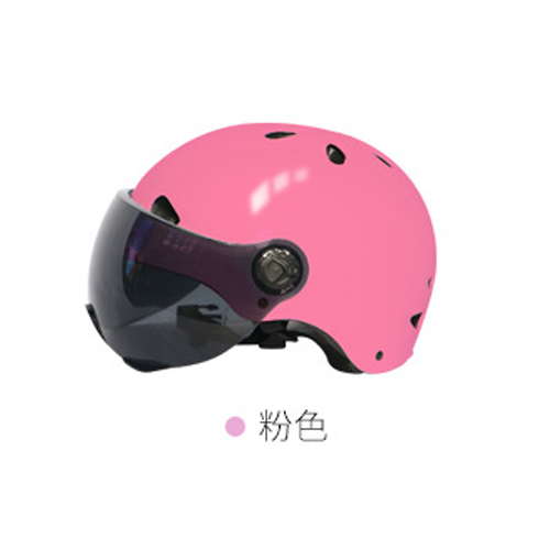 pink Electric bicycle helmet riding motorcycle helmet battery car helmet