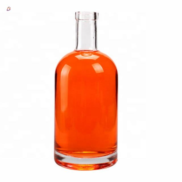 High quality low cost frosted clear bottle glass 750ml liquor for wine