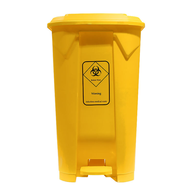 pedal container for medical biohazard clinical waste disposal container