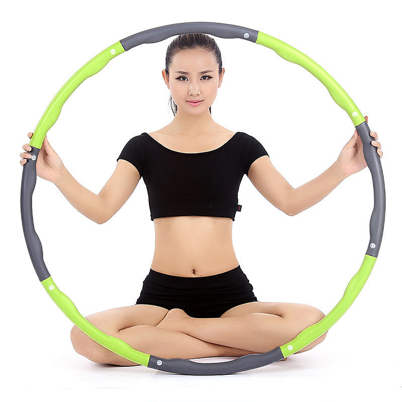 Manufacturer Exercise Hula hoops Decorations With Foam Padded , 8 Sections Weighted Metal Hula hoops For Adult Kid Children