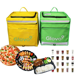 Custom Pizza Waterproof Bike Takeaway Insulated Cooler Lunch Box Motorcycle Drivers Thermal Glovo 77L Food Backpack Delivery Bag