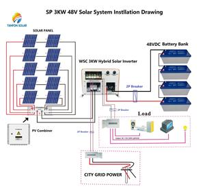 Good Quality Home use Solar Energy System 3kw complete solar system
