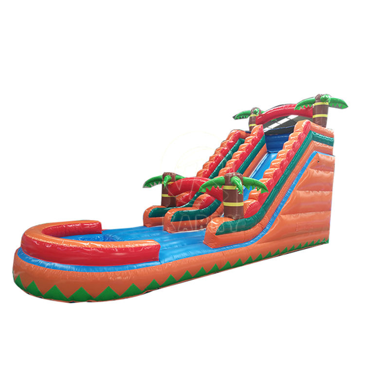 Funny inflatable water slide, kids water slide pool with high quality for sale