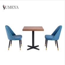 Modern tough but lightweight PVC/Metal  edge cafe restaurant dining tables