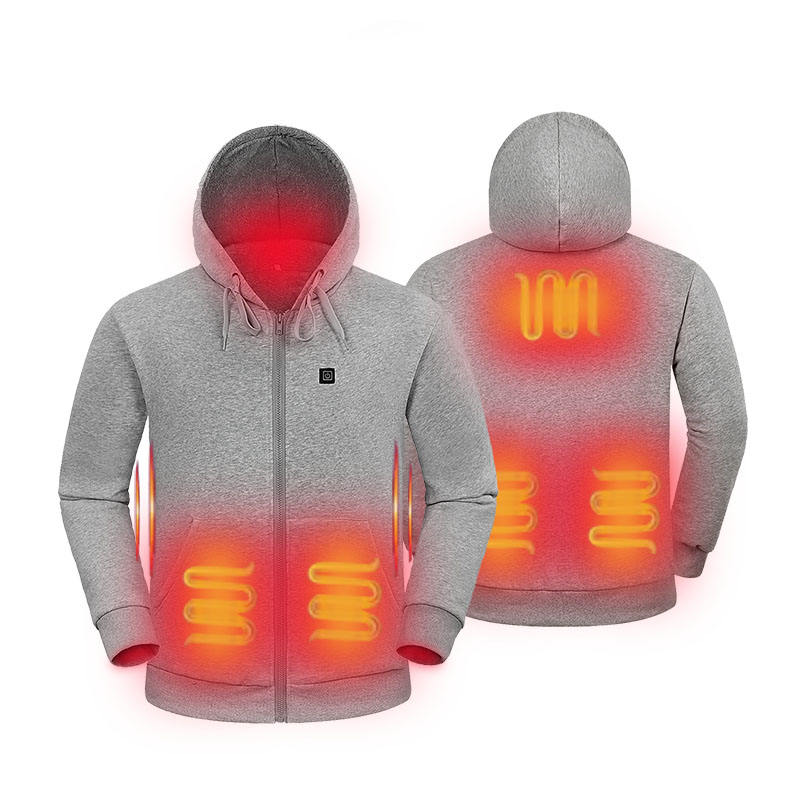 100% cotton far infrared battery powered heated hoodie jacket