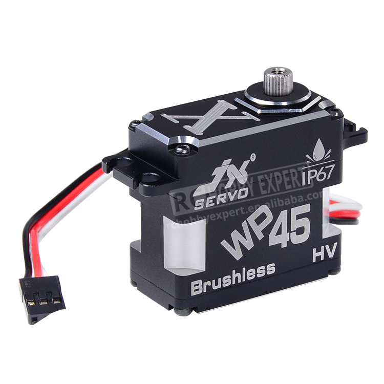 JX Servo WP45 45KG Full metal IP67 Waterproof Brushless high quality servo for RC Hobby UAV Robotics and Industrial Applications