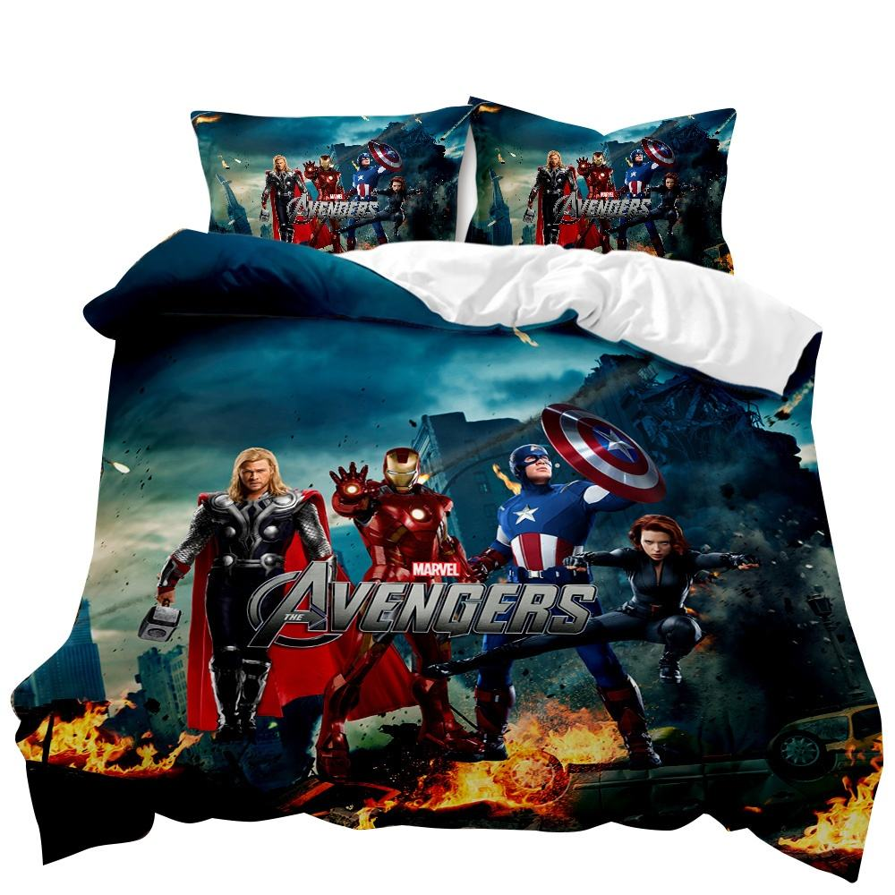 Alliance magic cartoon film 3D digital printing Bedding Set duvet cover 3 sets of strength home textile products