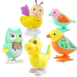 Plastic Cute Cartoon Animal Rabbit Clockwork Toy Bird bee duck piggy turtle Mechanical Wind Up Swing Toy for Kids Classic Toys