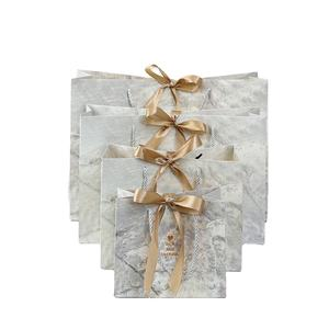 Elegant marble gift wedding paper bag for luxury wedding