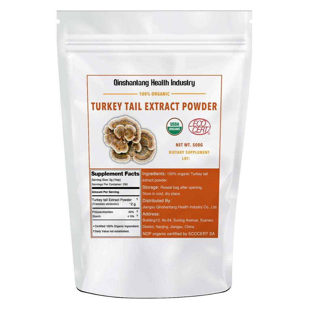 Organic Certified Polysaccharides 100% Fruit Bodies Extract Turkey Tail Coriolus Versicolor Mushroom Extract Powder