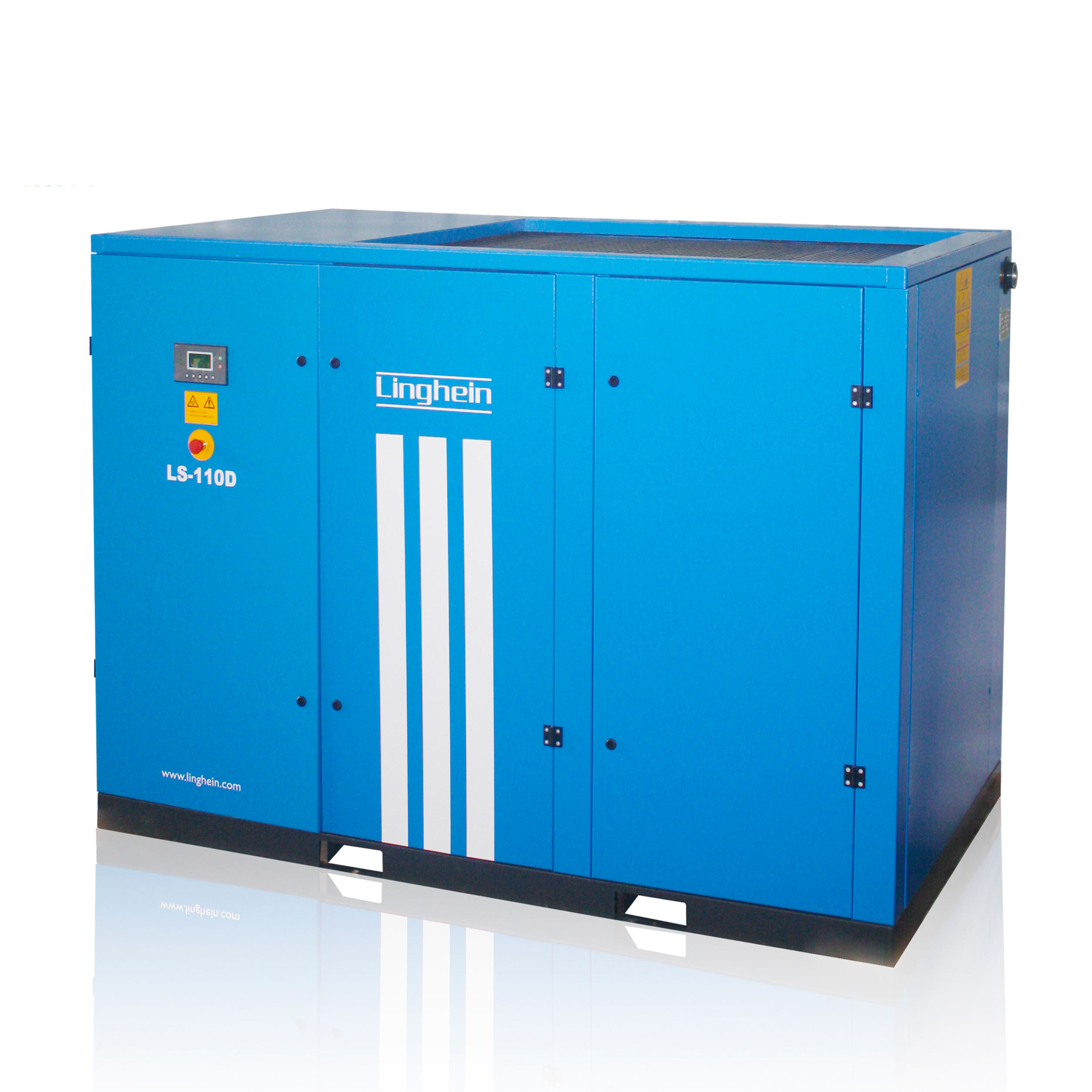 New-arrival LINGHEIN 150HP/110KW stable air screw compressor under AC group ,scroll compressor,air-compressors