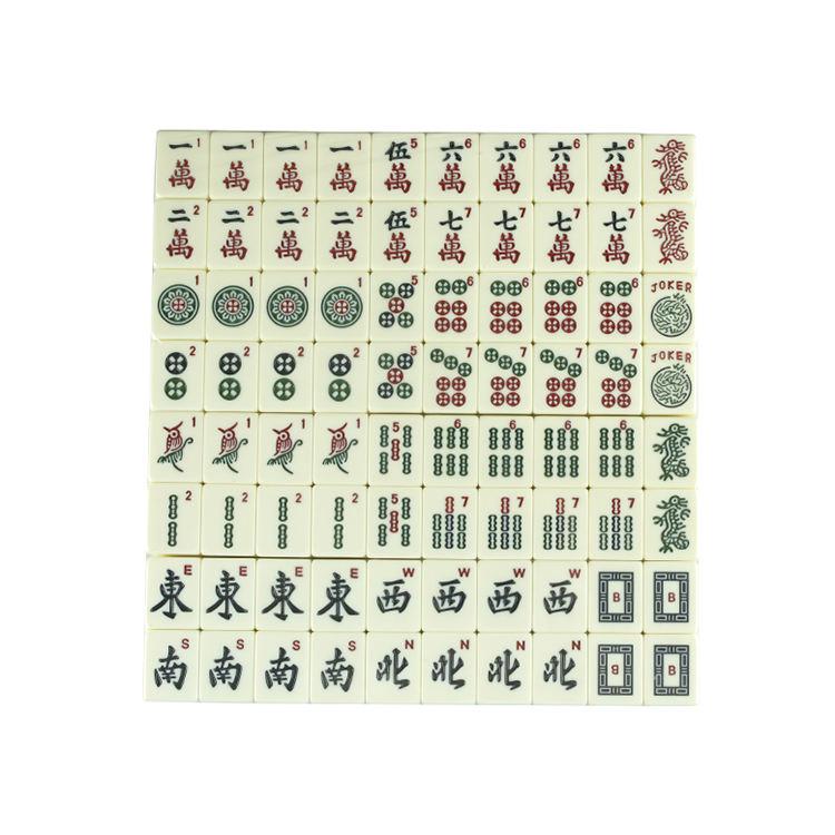 Toptan mahjong seti oyunları mah jong fayans güzel zar durumda amerikan Mahjong