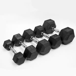 China Aptidão Ginásio 5lbs 20lbs 10lbs 40lbs 50lbs Dumbbell da Borracha do Hex Conjunto