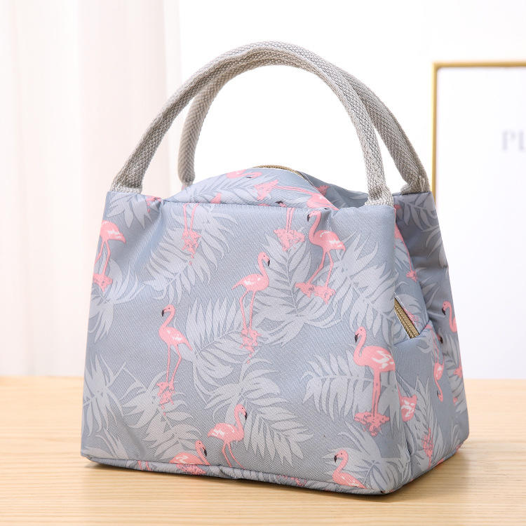New Style High Quality Cheap Eco-friendly Insulated Aluminum Foil Food Hand Bag Lunch Bag Box Office Luncheon Bag For Women