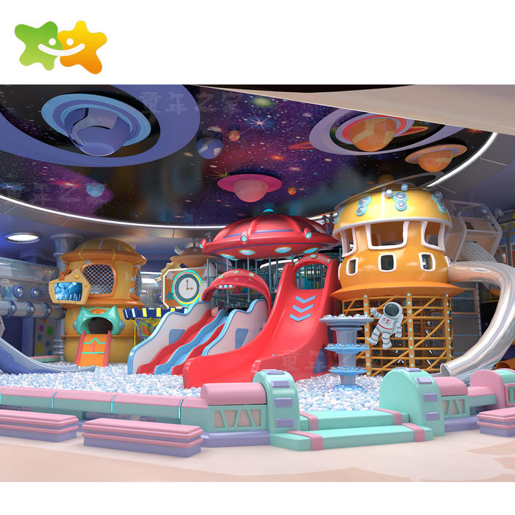 Plastic Playground Playground Equipment Space Theme Commercial Kids Game Colorful Children Playground Equipment Indoor