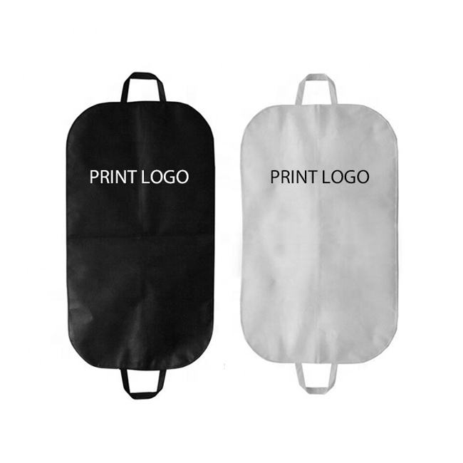 personalised black white biodegradable breathable men suit cover travel bridal long dress wedding gown garment bag with logo