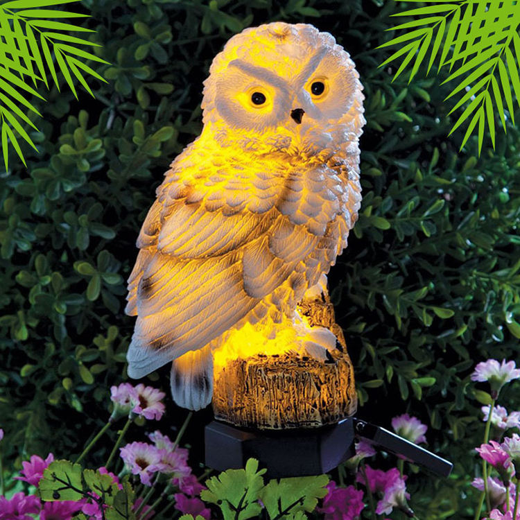 Fake Parrot/Owl Waterproof Ip65 Outdoor Solar Powered Led Path Lawn Yard Garden Lamps