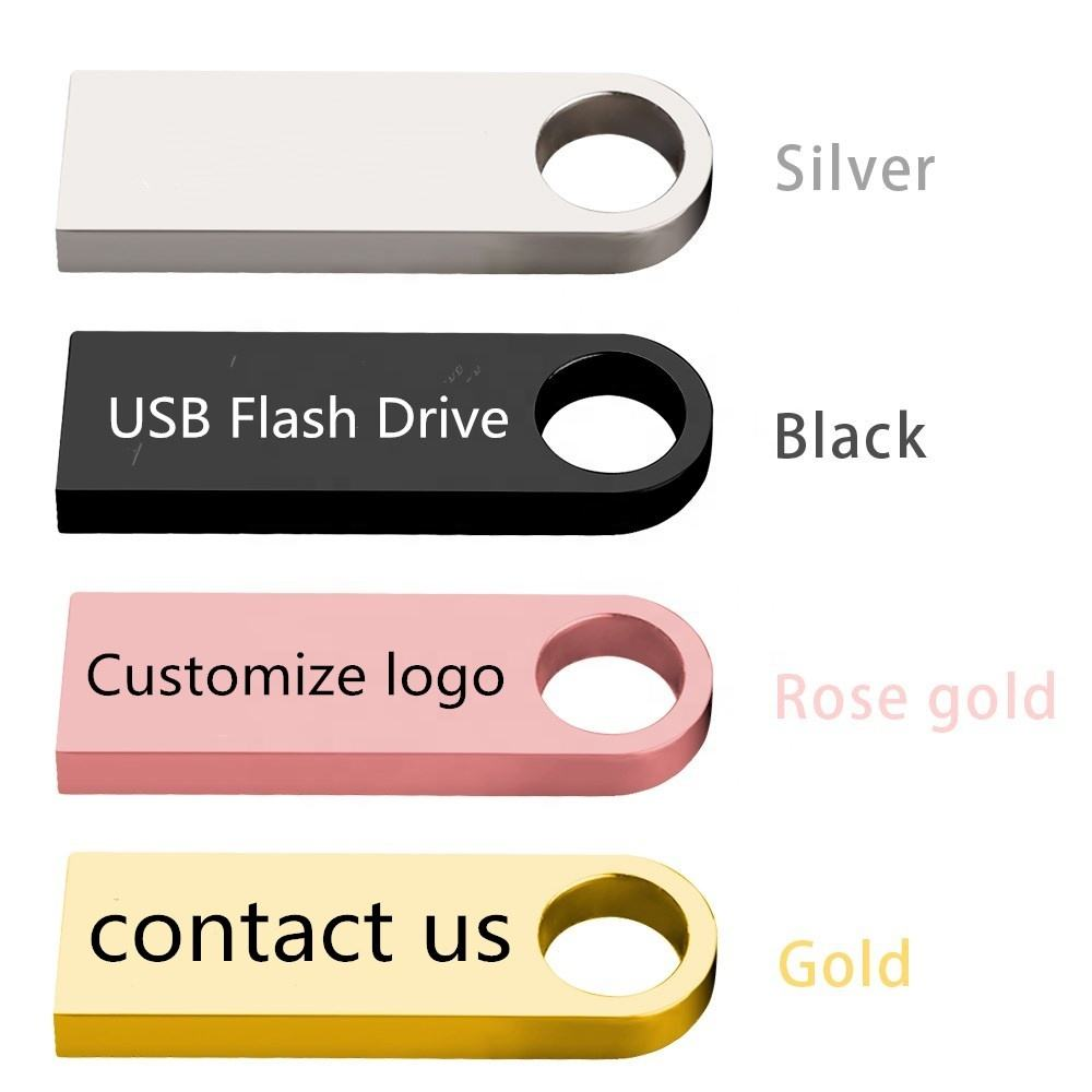 Usb Flash Drive customized Logo Printing 4G 16GB 32GB 64GB 128GB USB 2.0 Memory Flash Stick Gifts Pen drive disk metal hard disk