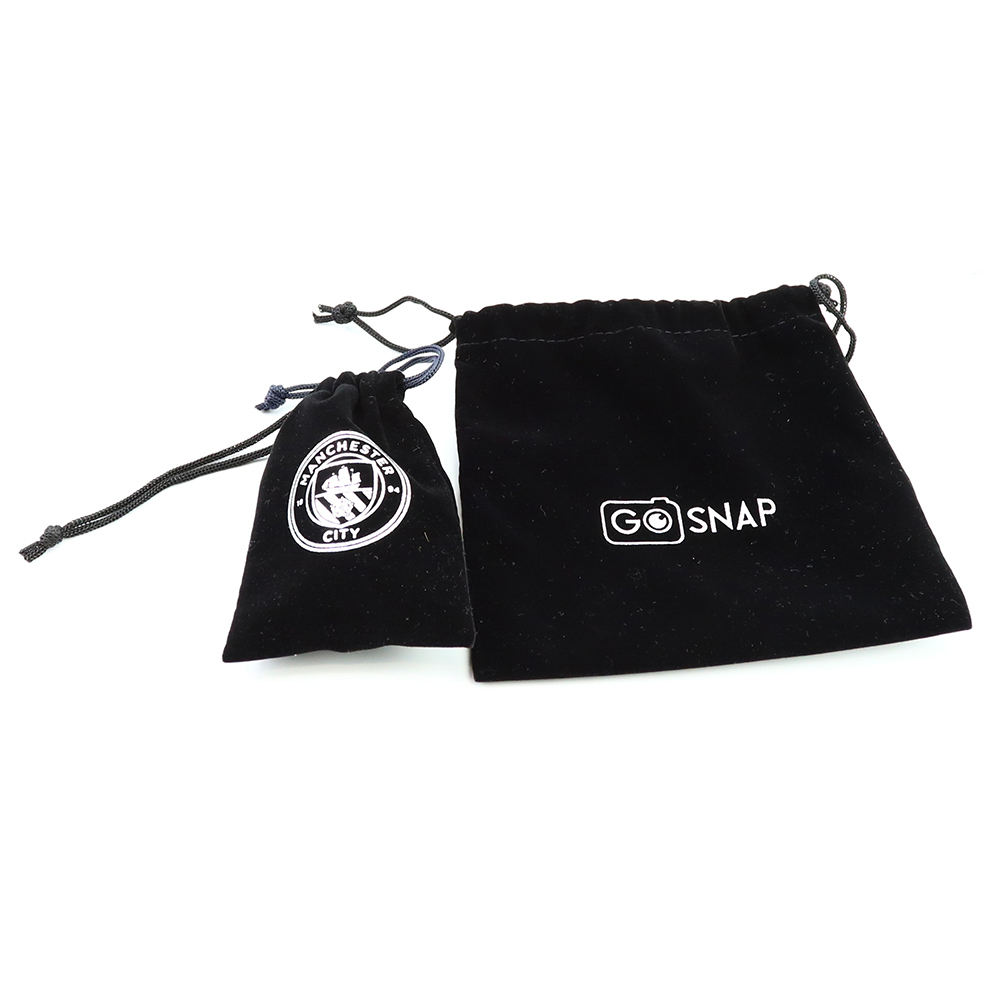 Best selling soft recyclable black velvet gift bags