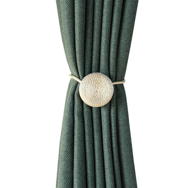 Window Curtain Tieback Beaded Tie Tiebacks Home Curtain TieBacks Curtain Hanging Ball Strap Tassel