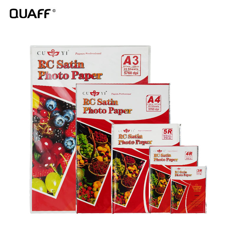 Wholesale RC Photo Paper 260GSM RC satin photo paper 3R 4R 5R A3 A4 Size by sheet Inkjet Printing Photo Paper