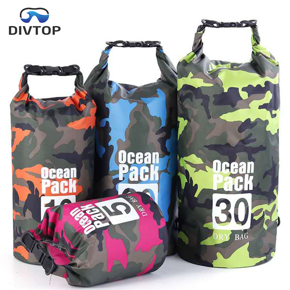 2020 OEM Camouflage Outdoor Waterproof Bag, Best 500D PVC Roll Top Dry Bags Waterproof Backpack