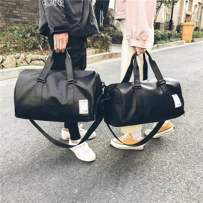 2019 Wholesale Custom designer outdoor sports travel durable pu leather duffle bags