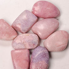 Landscaping African Natural Gemstone Gravel Stone Charming Crushed Pink Opal Crystal Tumbled Palm Stone