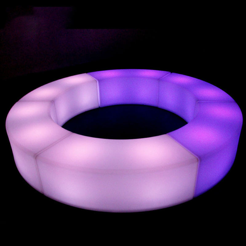 LED bar stool circle bar stool parts led light cube waterproof led cube chair lighting