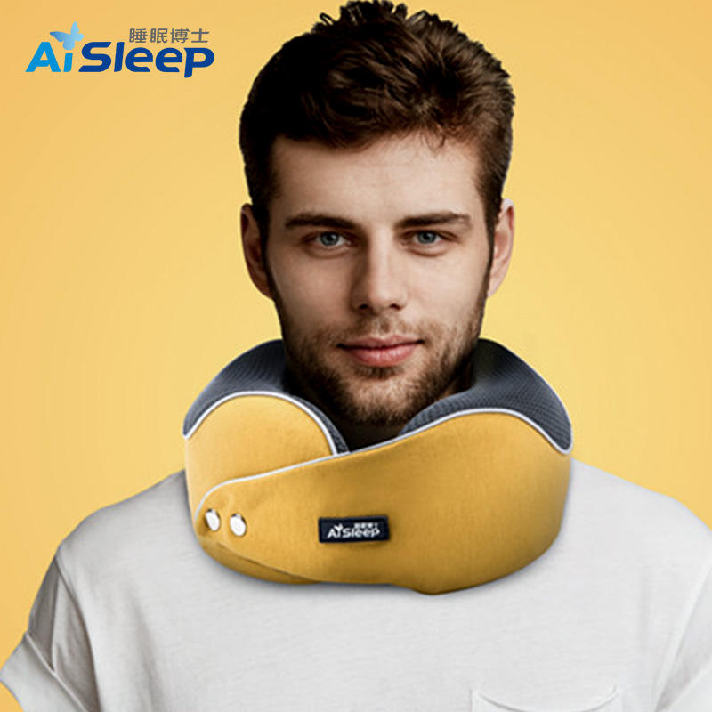 Foam Neck Pillow 2020 Aisleep Adjustable Luxury Airplane Headrest Soft Neck Support U Shape Memory Foam Soft Support Travel Neck Pillow