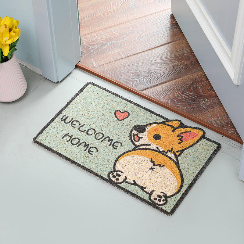 Customized Design Animal PVC Backing Coir Mat PVC Entrance Door Mat