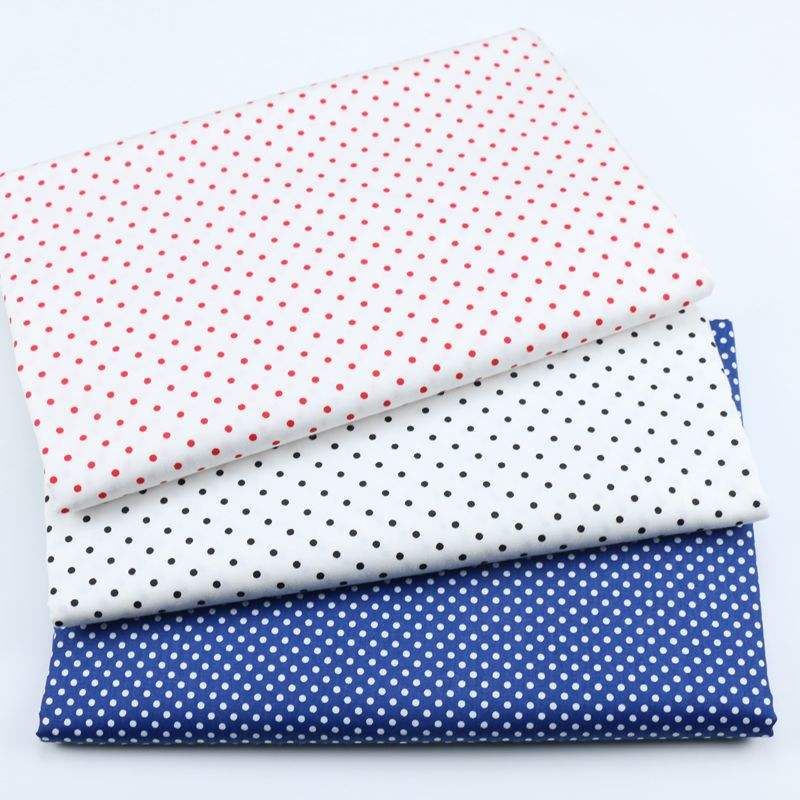 Polka Dots Printed Bed Sheet Sewing upholstery Kids Cotton textile fabric