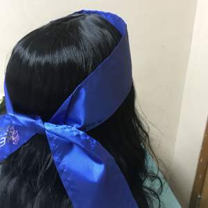 dark blue 100% Silk Soft Satin Headband For Women Long Hair Extension Bundles Head Wrap Accessories