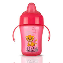 300 ML Free Sample Bpa Free healthy baby feeding bottle drink cup silicone baby cup