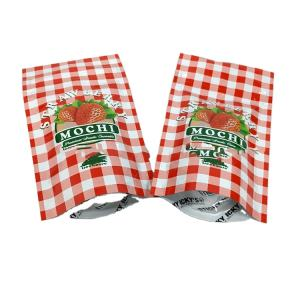 100ct STRAWBERRY MOCHI TREEHOUSE DESIGN COOKIES BAGS FOR SNACKS, candy food Mylar packaging bags