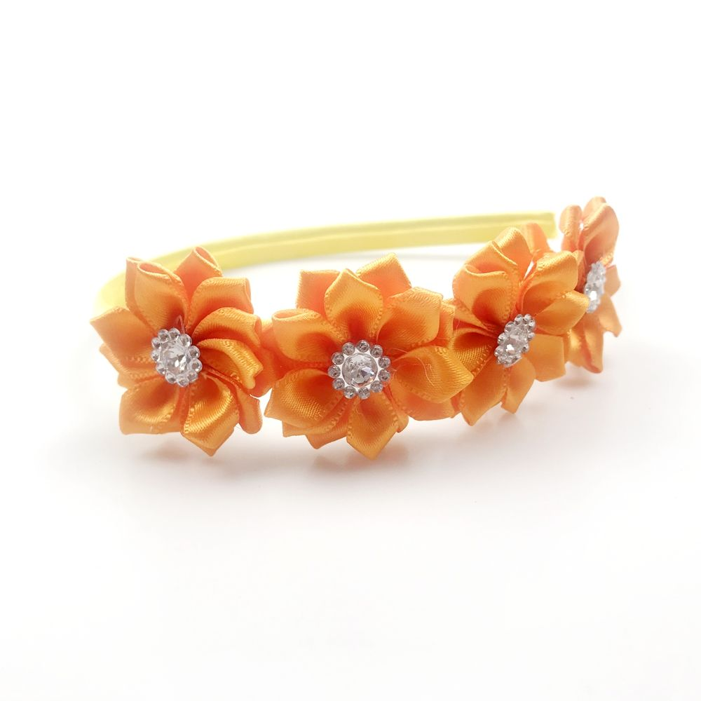 Best sales special design hair band with double flower Fashion high quality Hair Accessory