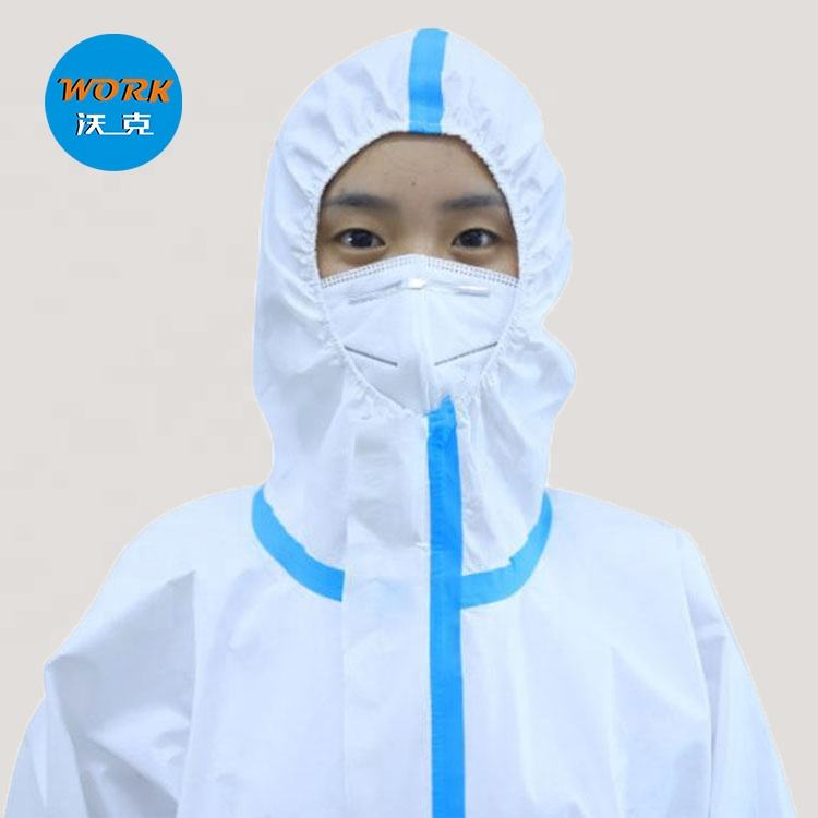 Disposable PP Non-woven and PE Breathable Membrane Non-sterile Coverall protective clothing