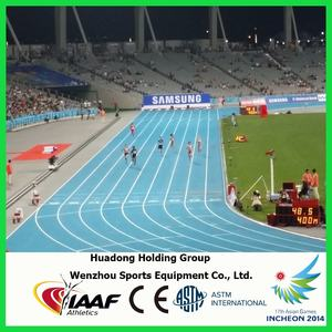 Rubber sports flooring type rubber flooring for all weather playground, gymnasium, field and international sports stadiums
